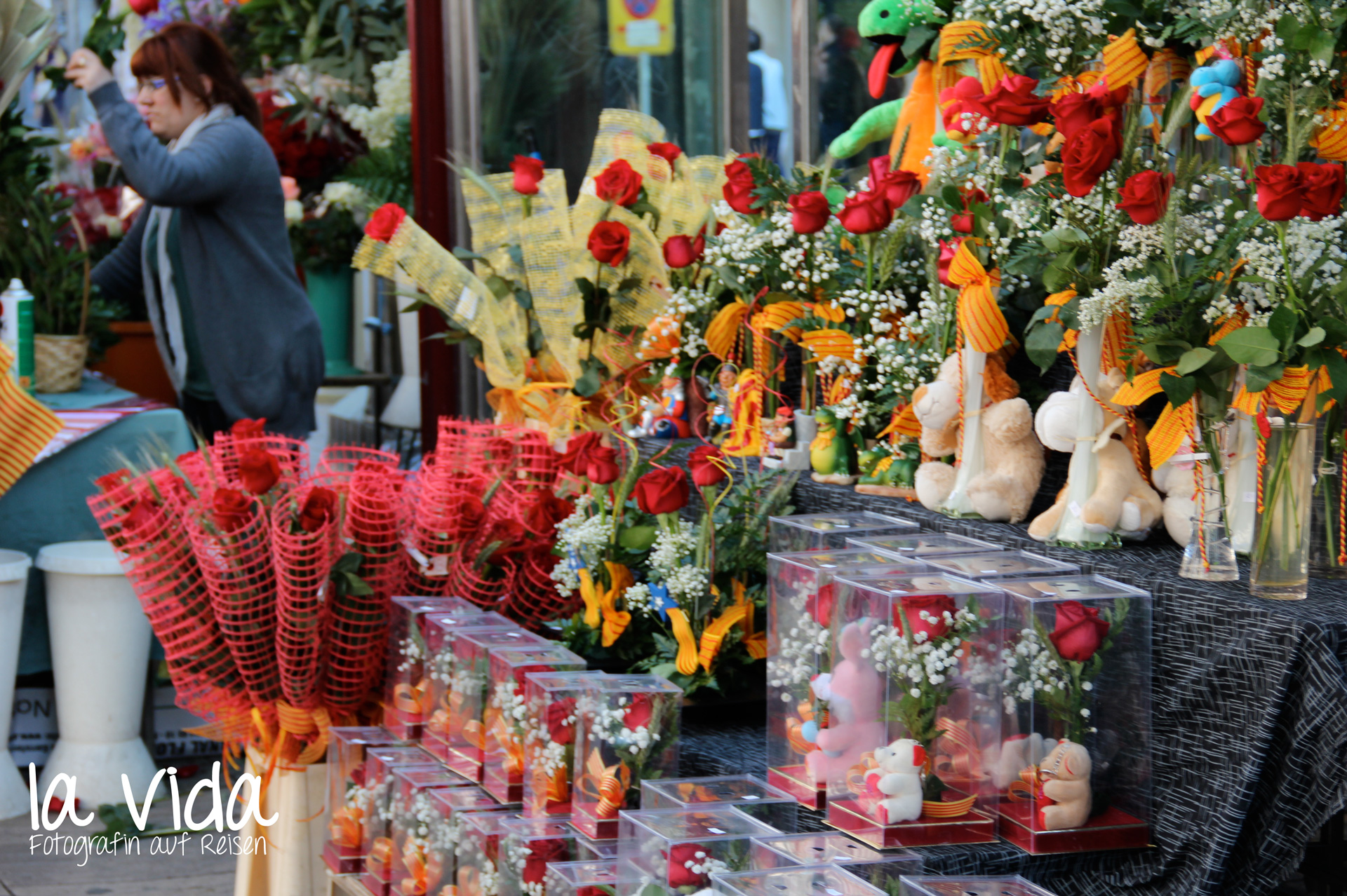 Blumenstand auf der Rambla