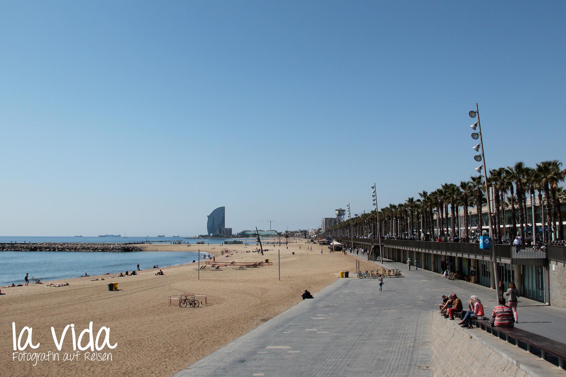 Strand von Barcelona
