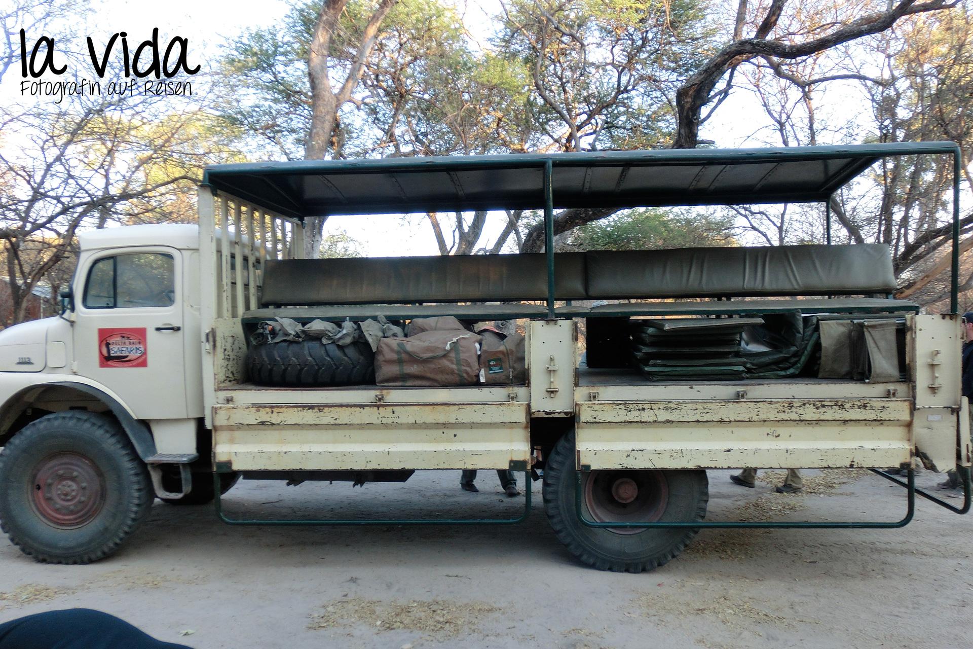 unser halb beladener Truck